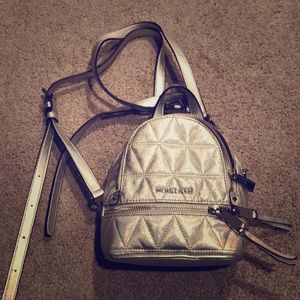 Michael Kors Silver mini backpack
